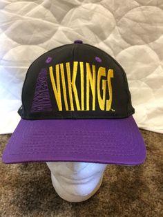 e1fdc413752 Vintage Minnesota Vikings Snapback Hat  BaseballCap