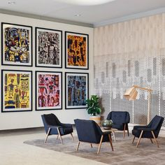 The beautiful foyer of the The Larwill Studio - an Art Series hotel focusing on Australian artist, David Larwill in the heart of Melbourne.