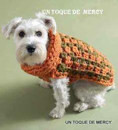 UN TOQUE DE MERCY: ROPA PARA PERRITOS.DE CROCHET..../MASCOTAS