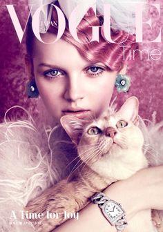 Lenka Varvarova by Elena Rendina for Vogue Japan August 2012. stylist: satoshi hirota hair: tomihiro kono make-up: yuki