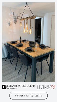 Eetkamerstoelen creëren de ideale sfeer aan de eetkamertafel! Livin24 heeft een ruim assortiment aan de meest comfortabele stoelen waarmee jij jouw eetkamer prachtig kunt inrichten. Kies voor een eetkamerstoel die perfect aansluit bij jouw woonwensen!   Home Decor Kitchen, Diy Home Decor, Room Decor, Japanese Home Decor, Modern Rustic Decor, Scandinavian Home, Home Living Room, Interior Design Living Room, Dining Area