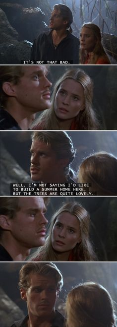 Westley and Buttercup enter the Fire Swamp. (The Princess Bride)