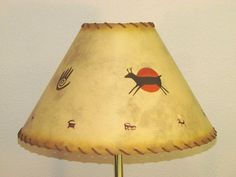 26 best lampshade images on pinterest lampshades light fixtures petroglyphs on southwestern lampshade with by ponderosadecor 7900 aloadofball Images