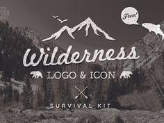 Wilderness Logo & Icon Survival Kit