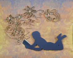 Visions of reading-quilled with newspapers from the 1950s!