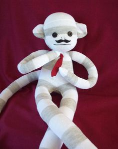 Sock Monkey with a Mustache @LibbyCate you should do this for em!