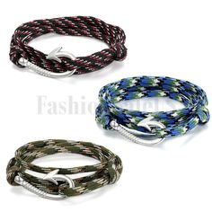 New Unisex Handcrafted Adjustable Nautical Fish Hook Multilayer Braided Bracelet #Unbranded #Bracelet