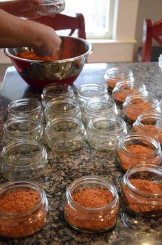 DIY Spice Rub Gift Jars - 3 tablespoons brown sugar, 2 tablespoons chili powder, 2  tablespoons paprika, 1 tablespoon cumin, 1 tablespoon salt, 1/2 tablespoon coriander, 1 teaspoon thyme, 1 teaspoon dried mustard, 1 teaspoon garlic powder, 1/2 teaspoon cayenne, 1/2 teaspoon black pepper.