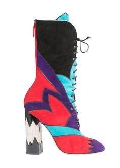 Miu Miu Mixed Leather Boot.: