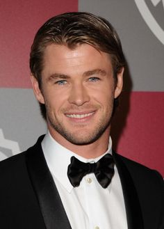 Chris Hemsworth.  One of the few blonde hair blue eye men I find gorgeous!