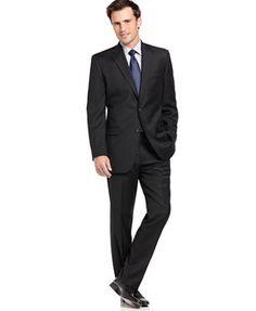 Lauren Ralph Lauren Black Solid Suit Separates