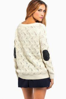 TOBI Knit Elbow Pad Sweater