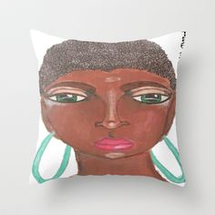 All Natural Throw Pillow by Tiffany Alcide (owner of WISE Art) - $20.00