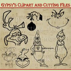 Grinch Who Stole Christmas SVG Cutting File Svg by GypsysClipart
