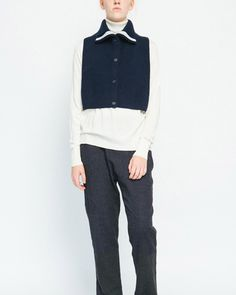 Button-Up Dickie Sweater