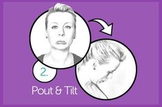 EXERCISE 2: POUT AND TILT From standing position, stick out your lower lip as far as you can to form a pout (place a finger on your chin; the skin should feel wrinkly and puckered). Hold this contraction for one second. Then, with your lip still out, contract the muscles at the front of your neck to lower your chin to your chest as far as possible without rounding your upper back. Pause and hold for another second, then relax your lips and straighten your neck to return to the starting.