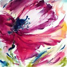 """Red poetry of spring"" - Original Fine Art for Sale - © Mikko Tyllinen"