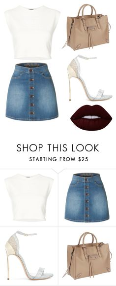 """""""liehwof"""" by alessiabazzurro on Polyvore featuring Puma, LE3NO, Casadei, Balenciaga and Lime Crime"""
