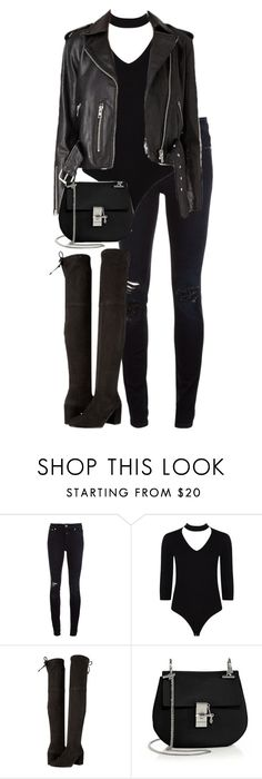 """""""Untitled #2955"""" by elenaday on Polyvore featuring Closed, Boohoo, Stuart Weitzman and Chloé"""