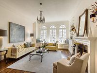 Sex And The City author Candace Bushnell is selling her Carrie Bradshaw-style New York apartment Greenwich Village, Chris Noth, Inside Celebrity Homes, Celebrity Houses, Spacious Living Room, Living Spaces, Living Rooms, City Living, Apartment Living