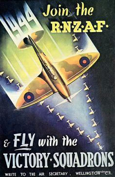 1944 Royal New Zealand Air Force Recruitment Poster | Flickr - Photo Sharing!