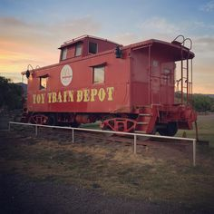 Ride the choo-choo at the Toy Train Depot in Alamogordo, NM, just ten minutes from Edgington Garden RV Park.