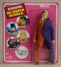 """DC Super Heroes Retro Action Batman's Foe TWO-FACE  8"""" figure Mattel"""