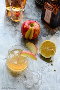 Apple Sidecar Cocktail Recipe the perfect fall drink - A Healthy Life For Me