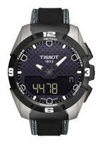 Tissot T-Touch Expert Solar Electronic Lcd Titanium Case Black Leather Watch# T091.420.46.051.01 (Men Watch)