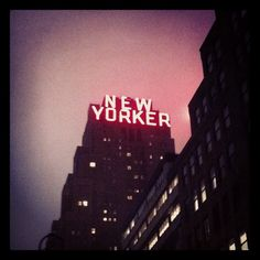 The New Yorker Hotel, New York, NY #newyorker #hotel #signs #neonsigns #neonlights #cloudy #foggy #mist #rainy #nyc - @arnab11- #webstagram