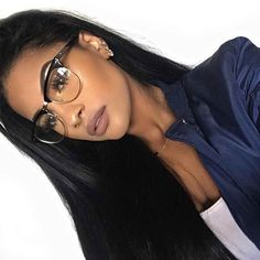 omgggg this hair gives me life.😍 it's Brazilian body wave from my favorite lippie: suede liquid lipstick in 'Sandstorm' glasses: 🤓💕 Beauty Makeup, Hair Makeup, Hair Beauty, Nude Makeup, Natural Hair Styles, Long Hair Styles, Brazilian Body Wave, Brazilian Weave, Brazilian Hair