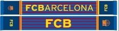 Sjaal van FC Barcelona. Op de sjaal staat het logo van barca aan beiden kanten, de tekst FC Barcelona en de afkorting FCB en verder is de sjaal voorzien van de kleuren van Barcelona. Geschikt voor iedere FC Barcelona fan.   Afmeting: volgt later.. - Sjaal barcelona rood/blauw stripes