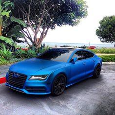 Bright blue Audi A7