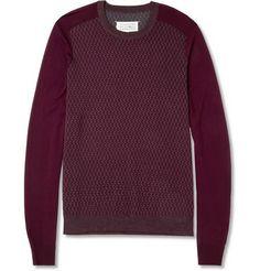 Maison Martin Margiela Patterned Wool Crew Neck Sweater