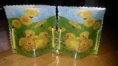 Serviettentechnik/Ostern ( Easter)Windlicht