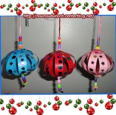 boules de Noël réalisées par les enfants *2013*