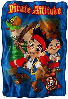 Disney Jake and the Never Land Pirates Throw Blanket ** Read more at the image link.