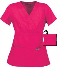 Greys Anatomy Scrubs Junior Fit Mock Wrap Tops... Have every color!!! They are my fave!!