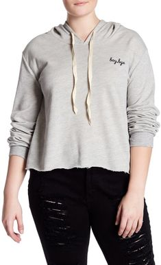 "I really like these tops that have short phrases on them. ""Boy, bye"" is what this one says. I want it!  #hoodie #plussize #oybpinners #commissionlink"