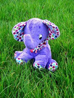 doudou éléphant en minkee et flanelle    elefant softies with minkee