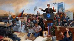 Obamanation Lithograph Art Print by Jon McNaughton