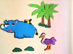 Rinoceronte y avestruz