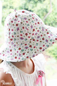 red brolly sun hat pattern