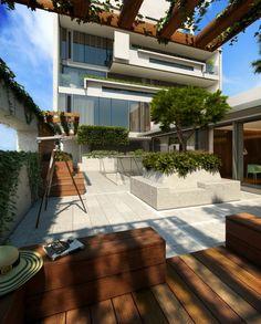 Glas Pergola Markise Komfortabel Überdachte Terrasse Modern Holz ... Ueberdachte Holz Veranda Deko Ideen