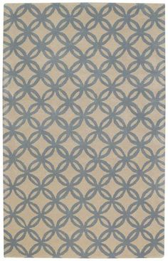 RugStudio presents Capel Derry 9223 Blue Sky 430 Hand-Tufted, Best Quality Area Rug 7'x9' $619.00