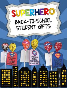 "This product contains printable superhero capes and masks for an easy back-to-school gift for your students. Just grab some lollipops, add these adorable capes/masks, and you'll be set for the first day of school, ""Open House"", or any back to school event!"