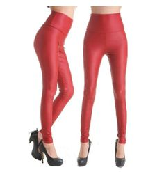 Jntworld Sexy Faux Leather High Waisted Leggings