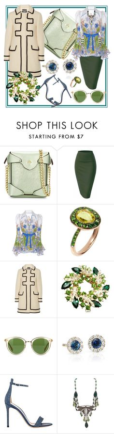 """""""Primavera"""" by rita257 ❤ liked on Polyvore featuring MANU Atelier, Naeem Khan, Annoushka, Boutique Moschino, Oliver Peoples, Blue Nile and Gianvito Rossi"""