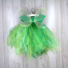 Tinkerbell Kostüm Fee Flügeln Halloween-Kostüm