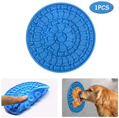 Wpunwen Dog Lick Mat,Dog Slow Dispensing Treater Mat, Slow Feeder Dog Distraction Pad with Peanut Butter, Silicone Lick Pad to Soothe While Bathing Grooming and Training,Suction to Wall or Floor #doggrooming